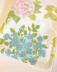 Vintage Wamsutta Ultracare Multi Color Flowers Floral Double Fitted Sheet by EastWestVintage1 on Etsy