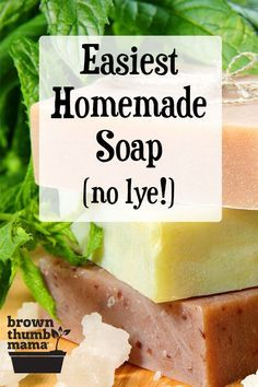 Homemade soap is easier than you think! This easy DIY shows you how to make your own natural homemade soap without using dangerous lye. Customize your soap with herbs and essential oils. Homemade Soap Bars, Homemade Soap Recipes, Diy Soap Recipe Without Lye, Making Soap Without Lye, Homemade Products, Bath Body Works, Lye Soap, Castile Soap, Glycerin Soap