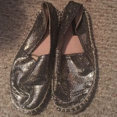 Gold glitter espadrilles. Food condition. Lots of compliments on these Report Shoes Espadrilles