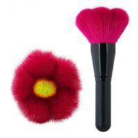 Forma de la flor del pelo de la cabra Big Powder Brush multifunción Cosméticos maquillaje cepillo colorete / Contour Brush