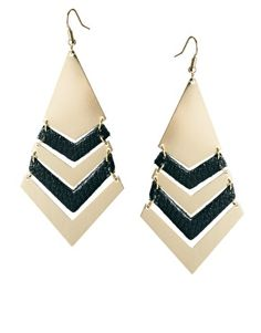 Pieces Eluka Leather Earrings