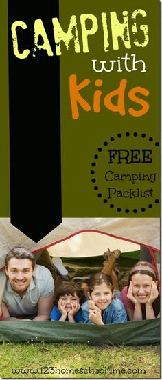 camping with kids - includes a free camping packlist