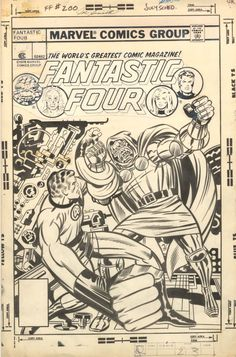browsethestacks: Original Art - Fantastic Four Cover by Jack Kirby And Joe Sinnott Comic Book Pages, Comic Book Artists, Comic Book Covers, Comic Artist, Comic Books Art, Anton, Fantastic Four Marvel, Comics Vintage, Jack Kirby Art