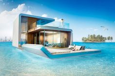 In Dubai will build the floating Villa. Awesome!