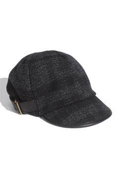 Burberry Check Print Tweed Cap
