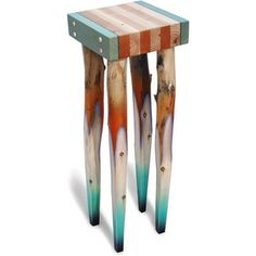 "John Boak ""Tall Table"" Wood Side Table"