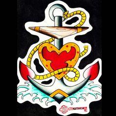 Anchor Flash Art   Charlotte NoDa artist portfolio, 28205 tattoo shops