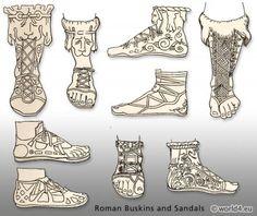 Antiga moda sapato romano.