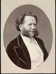 "A rare moment of Ibsen looking ""mild"" in a photograph :) Love it!"