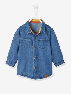 8c4d52e664b Ensemble bébé garçon chemise chambray + pantalon rayé à bretelles bleu  encre - Un petit look