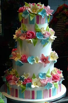 Spring flowers - Wedding Cake