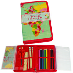Vintage World Map School Drawing Set Price: £9.95 http://www.dotcomgiftshop.com/world-map-drawing-set
