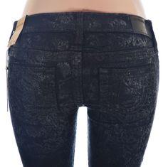 True Religion Womens Super Skinny Jeans Size 28 Casey Tone On Tone NWT  Was $358, Now US $149.95 #TrueReligion #SlimSkinny