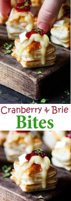 CRANBERRY & BRIE BITES UPDATED WITH VIDEO! – Medi Idea