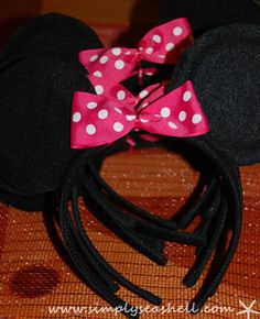 Easy to make Mouse Ears for Minnie Mouse Birthday Party
