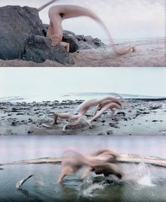 Frederic Fontenoy's Metamorphosis series (1988-1990) this was shot before digital manipulation was relevant/possible