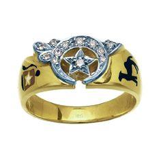 10k Yellow Gold Diamond Shriner Ring. Finger Size 12.5 * Visit the image link more details. (Amazon affiliate link)