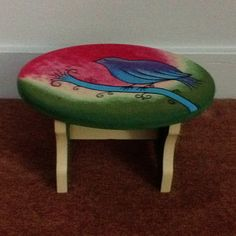 Wood stool that I have painted