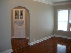 Living room to dining area to kitchen