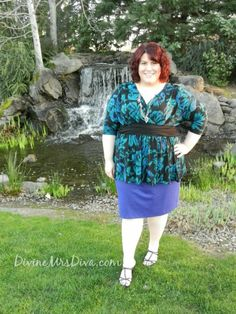DivineMrsDiva.com -  Kiyonna Devon Dolman Sleeve Top, Lane Bryant Ponte Knit Pencil Skirt. @Kiyonna Clothing  @Lane Bryant