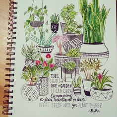 Day 24: House plants. I had the intention of making this one a little early but it's Sunday and you know... hope you guys have enjoyed your day ♡ #creativebug #cbdrawaday  #cbdrawadaychallenge #creativelifehappylife #drawingchallenge #drawings #illustrations #plants #handlettering #quotes #sketch #sketcheveryday #sketchbook #sketching #sketchbookmagic #yearofcreativehabits #creativeminds #watercolor #watercolorpainting #dailydrawings