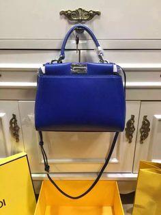 6997373cfe0 Fendi Mini Peekaboo Handbag in Royal Blue with Python Leather Monster Eye  2016 Monster Eyes,