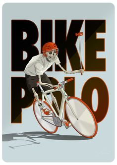 Bike polo player by Ibai Eizaguirre Sardon