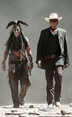 Johnny Depp and Armie Hammer in The Lone Ranger, Dir. Gore Verbinski (2013).