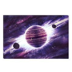 Startonight Canvas Wall Art Purple Universe Abstract Landscape, Dual View Surprise Artwork Modern Framed Ready to Hang Wall Art 100% Original Art Painting 23.62 X 35.43 inch  Consider using purple wall art if you want to make any room in your home look unique, trendy and modern.  In fact you can get all kinds of purple home décor ideas by finding a few pieces of charming and cool purple decorative accents.  Combine these with purple metal wall art to create a fun purple home decoration…
