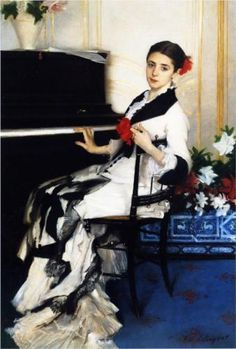 off Hand made oil painting reproduction of Madame Ramon Subercaseaux, one of the most famous paintings by John Singer Sargent. John Singer Sargent began painting the portrait entitled Madame Ramon Subercaseaux in 1880 and concluded it during. Giovanni Boldini, Sargent Art, Beaux Arts Paris, Ramones, Portraits, Woman Painting, Dress Painting, Madame, Beautiful Paintings
