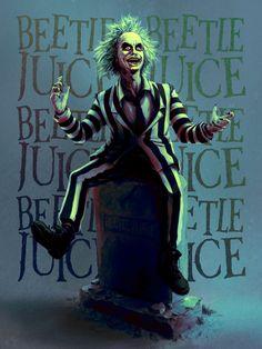 Beetlejuice Cartoon, Beetlejuice Halloween, Horror Art, Horror Movies, Sick Drawings, Tim Burton Characters, Sally Nightmare Before Christmas, Arte Obscura, Horror Posters