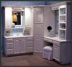 Bathroom Vanity With Makeup Vanity Attached Products Bath - Factory outlet bathroom vanities
