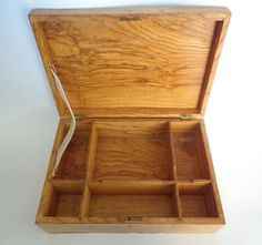 Vintage wooden box tray Organizer with cover by oldarticlesbg, $65.00