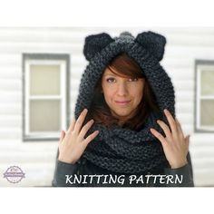 Knitting Pattern For Hood With Ears : 1000+ images about Bo Peeps Bonnets featured in Polyvore ...