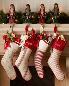 I love the classic look of these neiman marcus Christmas stockings, just need to find them for a quarter or tenth of this price!