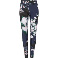 The Upside Yoga Pant found on Polyvore featuring activewear, activewear pants, pants, calças, trousers and floral