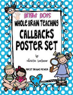 First Grade Fever!: Back-to-School Picture Frame & a Whole Brain Teaching FREEBIE!