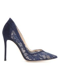 Gianvito Rossi - Lace and suede pumps - mytheresa.com GmbH