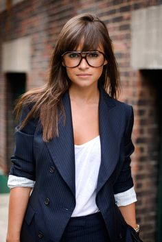 Have always wanted bangs like this..have never been convinced I could pull them off.