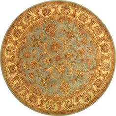Safavieh Heritage Blue/Beige 6 ft. x 6 ft. Round Wool Area Rug  on  Daily Rug Deals