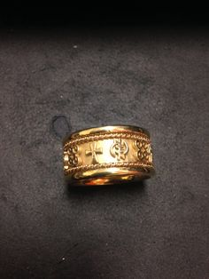 Two Toned African Wedding Band Hand Made Comfort Fit Egyptian And Ara Symbols 14k Twisted Rose Gold Wire White Ri