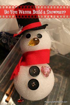 Snowman Busy Box