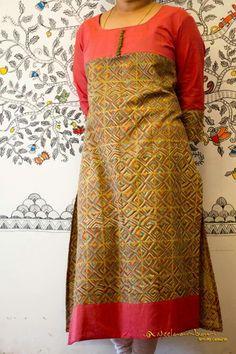Different types of kurtis designs - Easy Craft Ideas Salwar Neck Designs, Kurta Designs Women, Blouse Designs, Kurta Patterns, Dress Patterns, African Fashion Dresses, Indian Fashion, Chudidhar Designs, Kurti Styles
