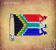Beaded SA Flag Pin