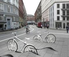 Creative bicycle stand design 9-4