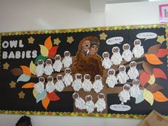 A super Owl Babies classroom display photo contribution. Great ideas for your classroom! School Displays, Classroom Displays, Teaching Displays, Teaching Ideas, Classroom Ideas, Baby Owls, Owl Babies, Jr Art, Nocturnal Animals