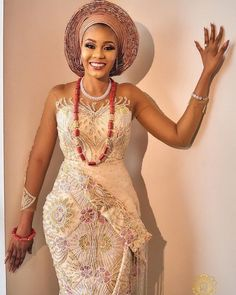 nigerian dress styles Here are some gorgeous wedding dress styles you can choose from for your african traditional wedding. African Lace Styles, African Lace Dresses, Latest African Fashion Dresses, African Print Fashion, Ankara Styles, African Traditional Wedding Dress, Traditional Wedding Attire, Traditional Fashion, Traditional Dresses