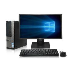 "Dell Optiplex 990 SFF Desktop - Intel Core i5 3.1GHz, 16GB DDR3, New 1TB Hard Drive, Windows 10 Pro 64-Bit, WiFi, DVD-ROM + New Dell 24"" LCD Monitor (Prepared by ReCircuit)"