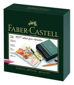 Faber-Castell PITT Artist Pen Gift Set - 24 count 167147