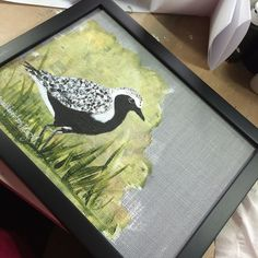 Framed and ready to head to my #artshow  @crewinery tomorrow afternoon. Come out and see me! #painting #art #birds #nature #wildlife #mixedmedia